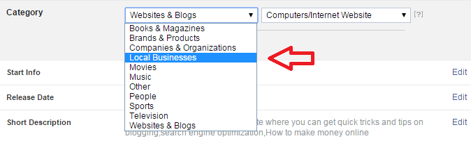 Change Page Category