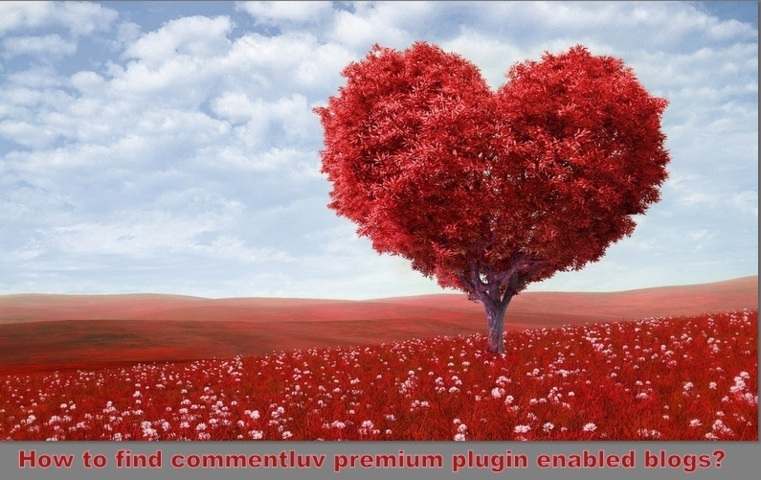 How to find commentluv premium plugin enabled blogs?