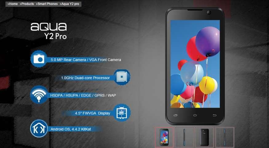 Full Specification Of Intex Aqua Y2 PRO