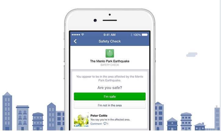 Facebook Launching its new Safety Check tool today
