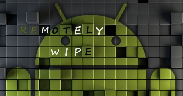 How to delete data of the lost android phone
