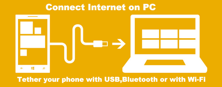 How to use phone's internet on computer