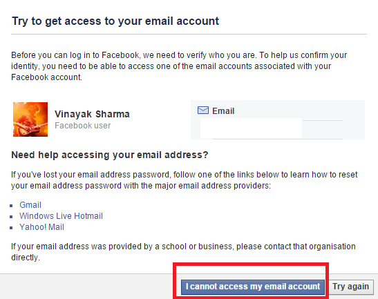 Step 5.Now click on the 'No longer have access to these' now you'll redirected to a new page, click on the 'I cannot access my Email ID'.