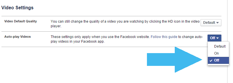 How to stop videos playing automatically on Facebook