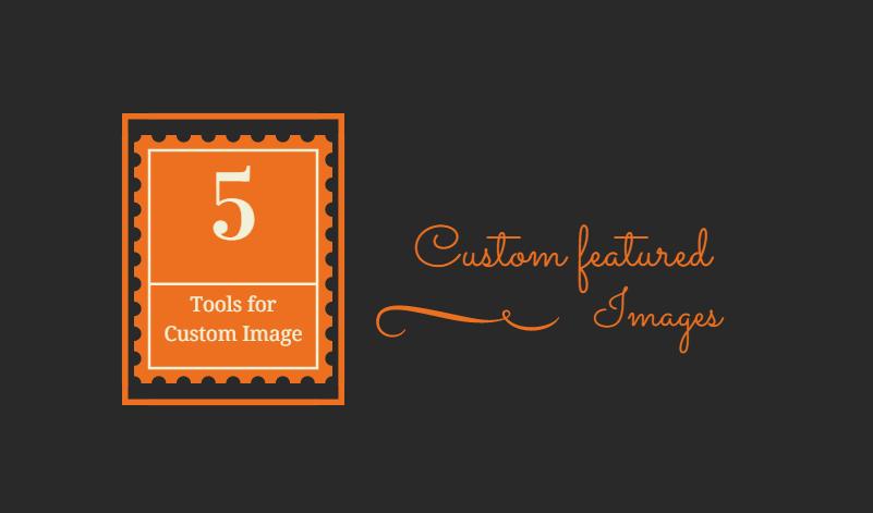 create Custom post featured images