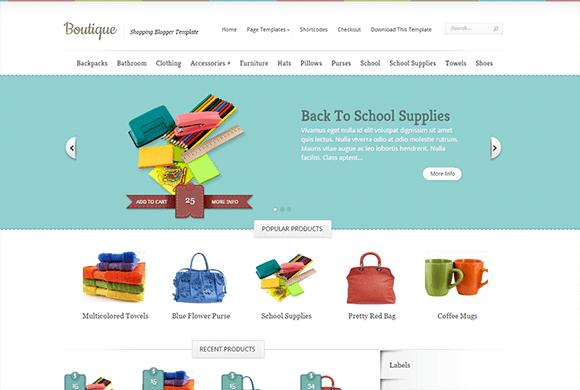 E-commerce Blogger Templates