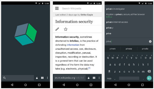 Secure Android Browsers