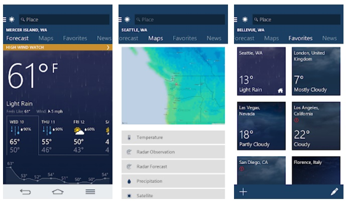 8 Best Weather Apps For Android Smartphones